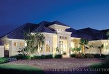 Mediterranean House Plans - The Sater Design Collection / These house plans incorporate pure design elements from front to back, displaying the traditional features of Mediterranean architecture such as barrel-tile roofs, arched windows and terracotta tiled courtyards.