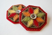 felt ornaments / These are wonderful little felt ornaments. I love them.