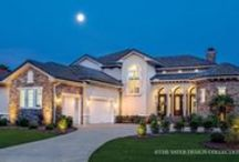 European House Plans - The Sater Design Collection / This European house plan collection is inspired by the deep roots of European architecture: Tuscan, Italian, Spanish, English and French. Old-world architecture from Tuscan villas, English manors, French Country chateau and Spanish-style courtyard villas are translated into New-Century designs with today's most popular amenities.