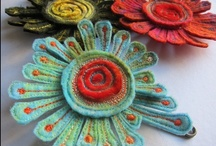 Hand Felting /  beautiful hand felting....from scarves to wall art. Enjoy.