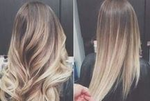 Hair: ombre / dark roots, light ends, highlights, balayage