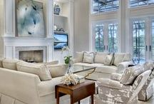 Living/Great Rooms with Style - The Sater Design Collection / Fabulous casual and formal living spaces designed by The Sater Design Collection.