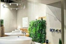 For the Bath... / Ideas for design and function of bathrooms and powder rooms.