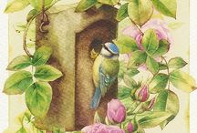 """Birds do not sew or reap. / """"Faith is the bird that feels the light when the dawn is still dark."""" - Rabindranath Tagore"""