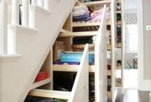 For the Home - Storage Ideas / There IS a place for everything! Our choices of the best storage tips and ideas.