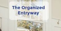 The Organized Entryway / The organized entryway board has lots of ideas for how to have a clutter-free foyer! | Let's Move LLC