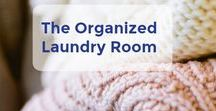The Organized Laundry Room / Having an organized and beautiful laundry room will inspire you to get those clothes watched and put away! Grab laundry room organization ideas here. | Let's Move LLC