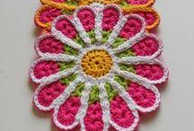 Crochet Motifs & how to join the motifs / Lots of crochet chart patterns