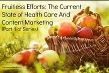 healthcare content marketing. / content marketing tips and tactics for healthcare brands.