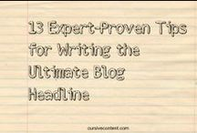 headline writing for content marketing. / how to write headlines that convert.