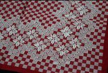 Bordado em tecido xadres / by Ro Jk