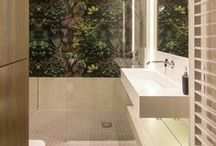 Modern bathroom with natural effect / Comprehensive implementation of Luxum Designed by Mirai Studio
