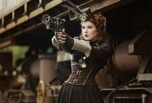 post apocalyptic / Steampunk /victorian / inspiration for a mixed adventurer costume.