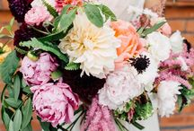 b o u q u e t s / Wedding bouquet inspo. All the flowers please.  And let's make it funky.