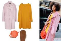 pink coats - inspirations / How to wear pink coats.