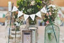 Table Decorations / Inspiration and ideas for decorating the tables of your wedding or party.