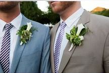 Two Grooms - Wedding Ideas / Here comes the boys.  Find inspiration and ideas for planning your perfect gay wedding day.