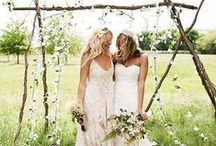 Two Brides - Wedding Ideas / Hear comes the Girls. Inspiration and ideas for ladies who love ladies