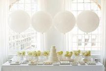 White Themed Wedding / Everything white - if you are planning a white themed party or wedding, here is a board full of beautiful inspirational ideas
