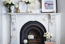 Fireplace and mantel decoration