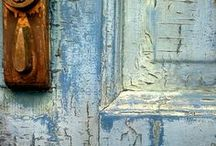 The beauty of rust, patina and old cracked, chippy weathered paint