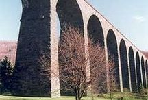 """Starrucca Viaduct / The most impressive """"Bridge of Stone"""" that the D&H goes under in Lanesboro. Deserves its own board!"""
