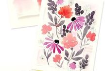 Illustration: flowers / A collection of pretty illustrated flowers and floral drawings