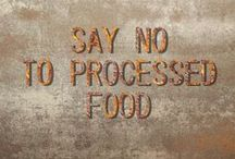 ☮ SAY NO - TO PROCESSED FOOD ☮ / Processed food, Fastfood a.k.a. Convenience food, commercially prepared food designed for ease of consumption. But there is nothing easy about it. Blindly supporting an abhorrent industry, as a consumer, creates a conflict that will inevitably reach a tipping point. Humanity as a whole has been cut off from the land, animals and vegetation that our ancestors understood so well. This disconnect is creating an ambivalence regarding real food. We need to get back in the kitchen folks!