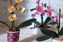 fleurs matières récup