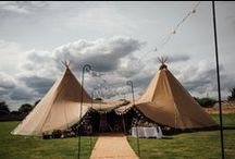 2 Giant Hat Tipis / Two of our gorgeous giant hat tipis creates a perfect space for a more relaxed style wedding. This provides a perfect event space from 40 - 100 guests