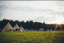 2 Giant Hat Tipis + Chill-Out / Two Giant Hat Tipis + Chill-Out Tipi  This is a stunning space to host an outdoor wedding. This can accommodate up to 120 seated guests with a party space of up to 150,