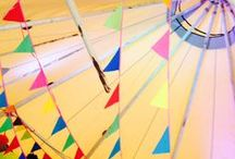 Tipi Bunting / Bunting looks fabulous in the tipis - each giant hat tipi requires around 25m in length