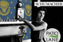 Schumacher 125th Anniversary / Some elegant fabric choices in luxurious prints, patterns and threads. Decor fabric for multipurpose use is perfect for anywhere in your home or office. Let Patio Lane help you keep your home beautiful.