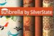 Sunbrella by SilverState / Silver State is the manufacturer of a versatile, practical line of upholstery fabrics but has bolstered its place in the marketplace further by teaming up with Sunbrella. Utilizing Sunbrella's fade, stain, and mildew resistance and extreme durability, Silver State adds its own thick stripes, solid colors, exclusive patterns, and lush textures for relaxed elegance and luxurious living indoors and out.