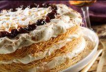 Baklavas - kataifi - galaktompoureko - mpougatsa - loukoumades & other syrup & puff pastry desserts