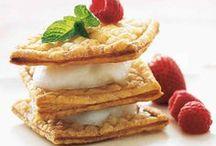 Pavlova, profiteroles, trifle, napoleons, mille feuille, eclair