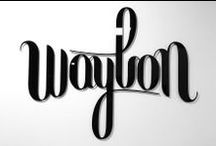 Waylon - graphic design; logo / Waylon, the Dutch singer songwriter asked us to design a website. Aware that Waylon obviously will also require an iconic logo, mfd took the liberty to first conceive and design a strong logo for Waylon.   We designed a logo with the quality and appeal of a powerful trademark that can be used on sound equipment, concert posters and merchandise alike. The look suits Waylon's music and culture perfectly.