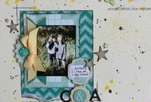 scrapbook pages for boys / boyish scrap pages or pages that can be adapted to be boyish!
