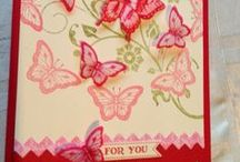 butterfly, bird and bug cards / cards with butterflies, birds and all sorts of bugs on them