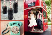Retro Wedding / retro pop wedding