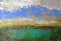 Paintings by Lisa Eisenhardt / Mixed media, acrylic, oil