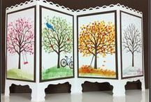 sheltering tree / card inspiration using stampin up sheltering tree stamp set