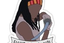 Illustrations: Fight like a girl