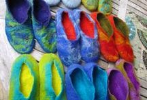 My London Textile Workshops Feltmaking & Embroidery / Images of my south London workshops