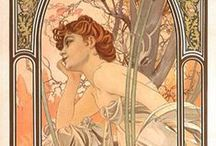 Alphonse Mucha / A love of the female body, colour and nature