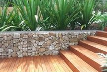 Gabion Basket Ideas / Placing stone in a wire mesh basket can create some incredible designs...