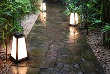 Japanese Gardens / Stone is an important part to creating this relaxed outdoor space