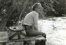 Vintage Fishing Images / Where it all started for me...Pinterest is great for finding old images of women fishing.  You've come a long way, baby!
