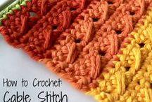 Punti uncinetto  - Crochet - Stitches & Techniques & Tools - tecnica - Tecnique