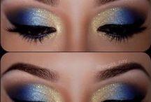 make up (eyes and lips)
